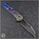 (#MTC-0274) Marfione Custom Warhound Folder DLC Stonewash - Back