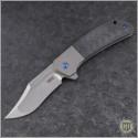 (#PK-XS-CF) Pena Knives X-Series Lanny's Clip Carbon Fiber Titanium - Front