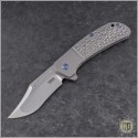 (#PK-XS-Ti) Pena Knives X-Series Lanny's Clip Jigged Titanium - Front
