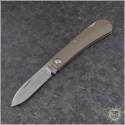 (#PK-Zulu-LB) Pena Knives Zulu Spearpoint Lockback - Bronzed Titanium - Front