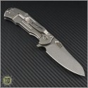 (#RH-MP1-G3) Rick Hinderer MP-1 G-10 Titanium Framelock - Back