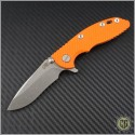 "(#RH-XM1830-10) Rick Hinderer XM-18 3"" Recurve - Stonewash - Front"