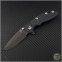 "(#RH-XM1830-13) Rick Hinderer XM-18 3"" Spanto - Black Handle - Front"