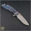"(#RH-XM1830-7) Rick Hinderer XM-18 3"" Recurve - Working Finish - Back"
