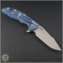 "(#RH-XM1835-35) Rick Hinderer XM-18 3.5"" Harpoon Spanto - Black/Green - Back"