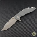 "(#RH-XM1835-37) Rick Hinderer XM-18 3.5"" Harpoon Spanto - Gray - Front"