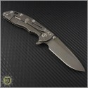 "(#RH-XM1835-44) Rick Hinderer XM-18 3.5"" Spear Point - Anthracite - Back"