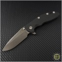 "(#RH-XM1835-44) Rick Hinderer XM-18 3.5"" Spear Point - Anthracite - Front"