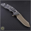 "(#RH-XM1835-B-4) Rick Hinderer XM-18 3.5"" FDE DLC Skinner - Flat Dark Earth Handle - Back"