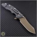 "(#RH-XM1835-B-5) Rick Hinderer XM-18 3.5"" FDE DLC Skinner Green Handle - Back"