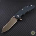 "(#RH-XM1835-B-5) Rick Hinderer XM-18 3.5"" FDE DLC Skinner Green Handle - Front"