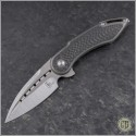 (#SC-MG-CF-SLV) Begg Knives Mini Glimpse Satin Plain - Front