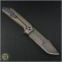 (#SCC-003) Simeon Custom Knives Damascus Harpoon Tanto Flipper - Back
