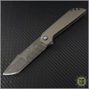 (#SCC-003) Simeon Custom Knives Damascus Harpoon Tanto Flipper - Front
