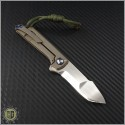 (#SCC-004) Simeon Custom Knives Mini Harpoon Tanto Flipper - Back