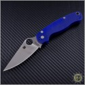 (#SPY-C81GPDBL2) Spyderco Paramilitary 2 Blue Purple G-10 S110V - Front