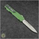(#VNT-0109) Microtech Hunter Green UTX-70 S/E Satin Plain - Back