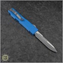 (#VNT-0110) Microtech Blue UTX-70 S/E Black Plain - Back
