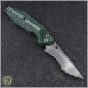 (#WM-BAN-GG) Will Moon Banshee Green Glow Twill Satin Kukri - Back