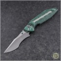 (#WM-BAN-GG) Will Moon Banshee Green Glow Twill Satin Kukri - Front