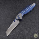 (#WM-BAN-Ti-01) Will Moon Banshee Blue Ti Wharncliffe Satin - Front
