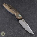 (#WM-BAN-Ti-02) Will Moon Banshee Ti Drop Point Gloss Stonewash - Back
