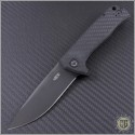(#ZT0804CF) Zero Tolerance 0804CF S/E Black Plain Filpper w/ Carbon Fiber Handle - Front