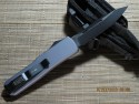 Microtech UT-X85 - Charcoal Handle - Black Plain Blade - Black Hardware - Back