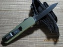 Microtech UT-X85 - OD GREEN Handle - Black Plain Blade - Back