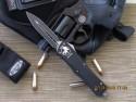 Microtech Combat Troodon - D/E - Black DLC - Plain - Front