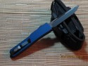 UTX-70 - Single Edge - Black Blade - Plain - Blue Handle - Back