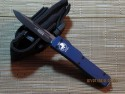 UTX-70 - Single Edge - Black Blade - Plain - Blue Handle - Front