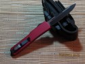 Microtech UT-X70 - S/E - Black - Red Handle - Back
