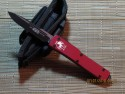 Microtech UT-X70 - S/E - Black - Red Handle - Front