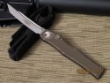 Microtech Halo V - OD Green - Bead Blast Tanto - Plain - Front