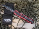 Microtech Makora Fireant Tactical - Double Edge - Black - Plain - Back